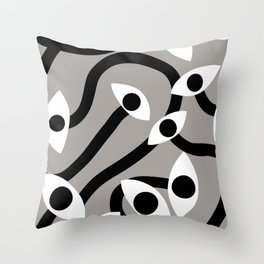 Evil eye staring Throw Pillow