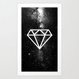 BLACK---DIAMOND Art Print