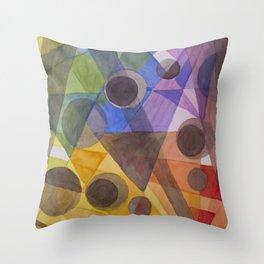 Rainbow Prism Throw Pillow