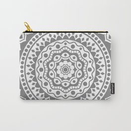 Mandala #3 (gray) Carry-All Pouch