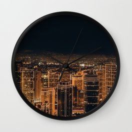 Somewhere in China – City by night Wall Clock