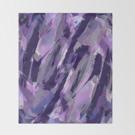 Thunder Plum Abstract Throw Blanket