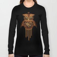 Steampunk Owl Vintage Style Long Sleeve T-shirt