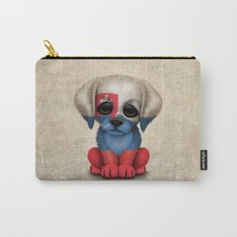 Cute Puppy Dog with flag of Slovakia Carry-All Pouch
