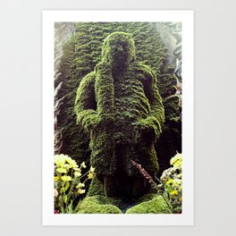 Moss Buddha  Art Print