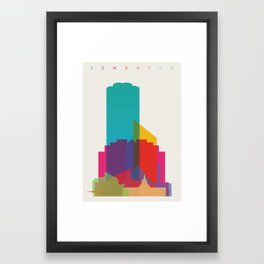 Shapes of Edmonton Framed Art Print
