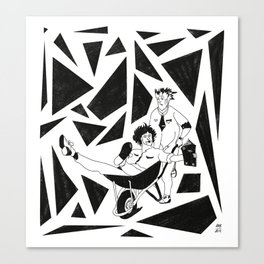 Personal Wheelbarrow Files Canvas Print