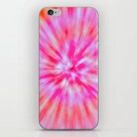 tie dye iPhone & iPod Skins featuring TIE DYE by Nika