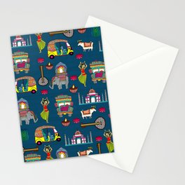 Mobile Blue Stationery Cards