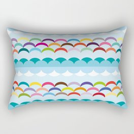 Between sky and sea Rectangular Pillow