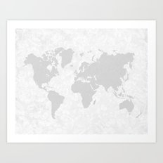 Intricate World Map Art Print