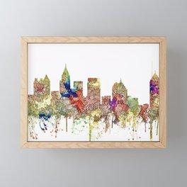 Augusta Georgia Skyline SG - Faded Glory Framed Mini Art Print