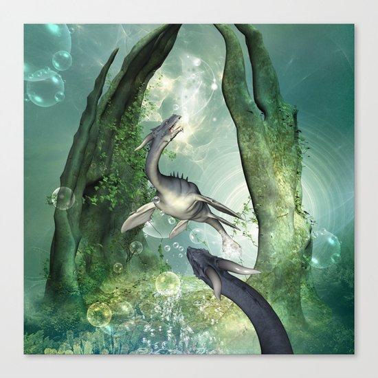 Awesome seadragon Canvas Print