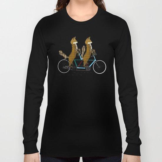 Foxy days lets tandem Long Sleeve T-shirt