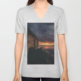 New Mexico Lake Sunset Unisex V-Neck