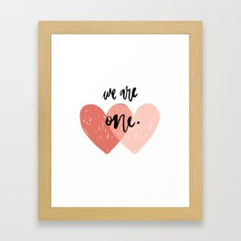 Soul mates hearts Framed Art Print