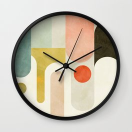 geometry abstract pastel Wall Clock