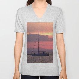 Sailing at Sunset Unisex V-Neck