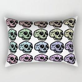 Skull Pattern in Pastel Tone Rectangular Pillow