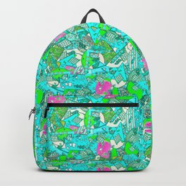 80's Abstract Earring Doodle 1 Backpack