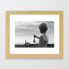 """The boy with the frog"" by Charles Ray, Venice Framed Art Print"