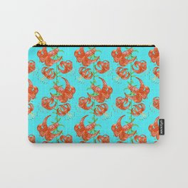 Tiger Lilies (Light Blue Background) Carry-All Pouch