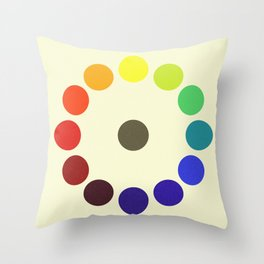 Vintage remake of Bonnie E. Snow's and Hugo B. Froehlich's Larger Chromatic Circle 1918 Throw Pillow