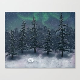 Wintry Forest Canvas Print
