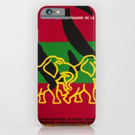 Plakat centenaire le corbusier cent iPhone Case