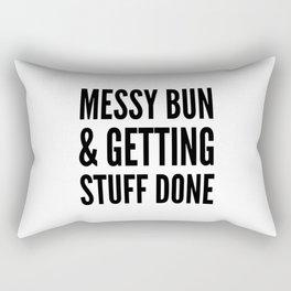 Messy Bun & Getting Stuff Done Rectangular Pillow