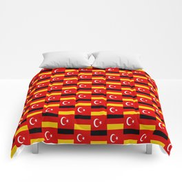Mix of flag : Germany and turkey Comforters