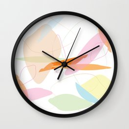 Abstract Pastel Minimal Shape Pattern Wall Clock