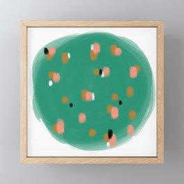 Green Speckles Framed Mini Art Print