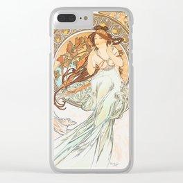 Alphonse Mucha Music Art Nouveau Clear iPhone Case