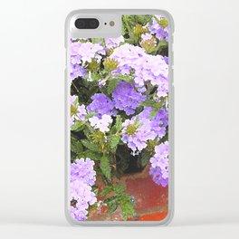 Vebena in Purple Clear iPhone Case