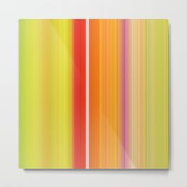 Sablo Lio ~ Orange & Lime Green Metal Print