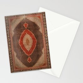 Persia Tabriz 19th Century Authentic Colorful Red Redish Cowboy Vintage Patterns Stationery Cards
