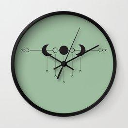 Moon Dropplets Wall Clock