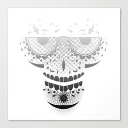 Sugar Skull - Day of the dead bw Canvas Print