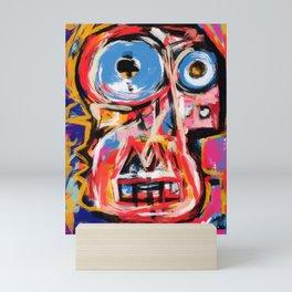 Art brut outsider underground graffiti portrait Mini Art Print
