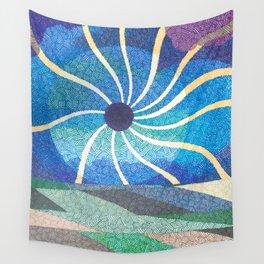 Eclipse Spirals Wall Tapestry