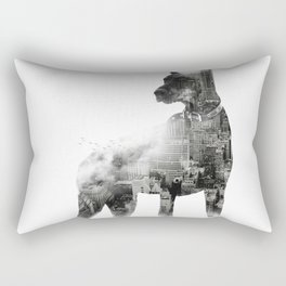Doberman Pinscher NYC Skyline Rectangular Pillow
