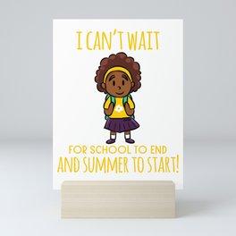 School holidays School for Girls Summer Sun Mini Art Print