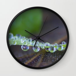 Pearls of rain Wall Clock