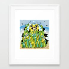 The Monster of Skate Forest Framed Art Print