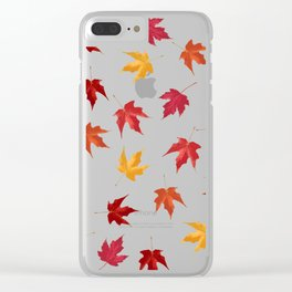 Fall Golden Leaves Clear iPhone Case