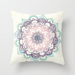 Mermaid Medallion Throw Pillow