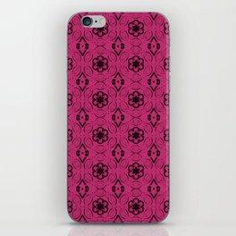 Pink Yarrow Floral Geometric Pattern iPhone Skin