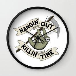 Hangin' Out Sloth Shirt Wall Clock