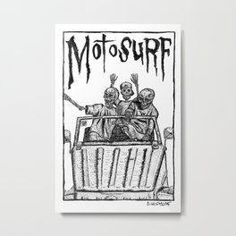 Motosurf Metal Print